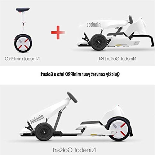 Ninebot GoKart Kit for Segway miniPRO , 12.4 Miles 15 Speed, Mobile App Lights Kids and