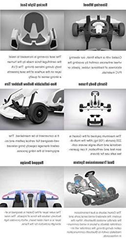 Ninebot for Transporter , Miles 15 Top Speed, Mobile App Control, LED Lights Cart for Kids Adult