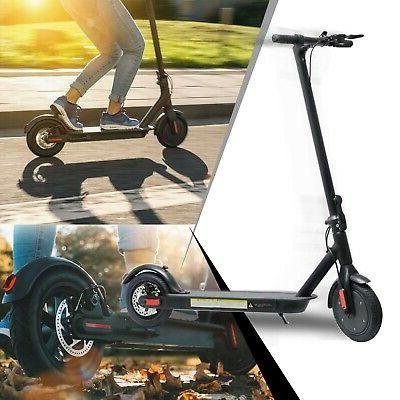 electric portable rechargeable folding scooter black