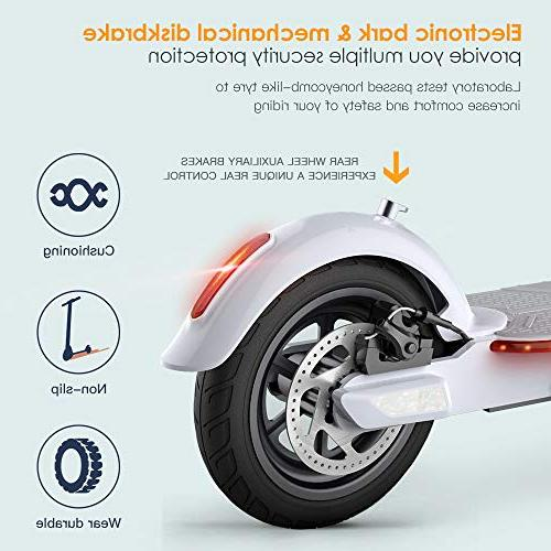"TOMOLOO Electric Foldable 18.6 Miles Long-Range, Up MPH, Commuting Scooter, 8.5"" Filled Cruise Control"