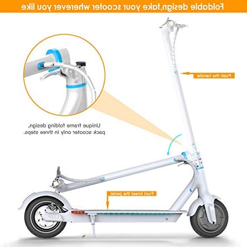 "TOMOLOO Foldable Design, 18.6 Long-Range, MPH, Scooter, and E-Scooter 8.5"" Filled Cruise"