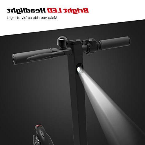 MEGAWHEELS Scooter, Powerful 250W Range to15.5 MPH, Portable Folding 36V Design