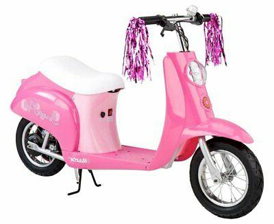 Electric Scooter for Girls Battery Powered Pneumatic
