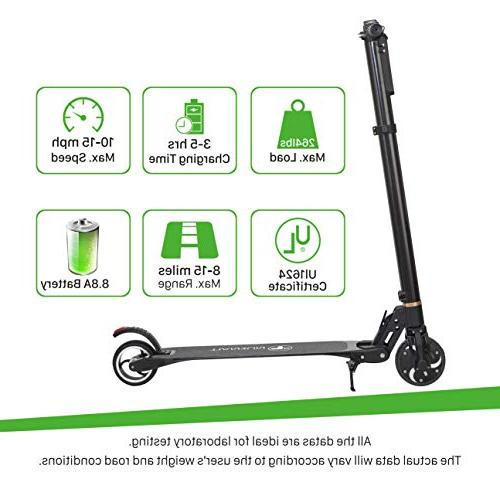 TianRun Electric Scooter Mph & Range Miles 8.8Ah Easy Foldable Electric Bicycle