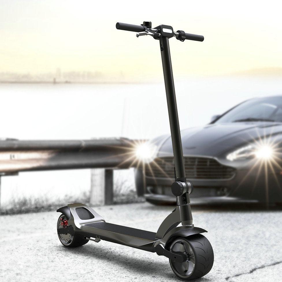 electric scooter wide wheel folding dual motor