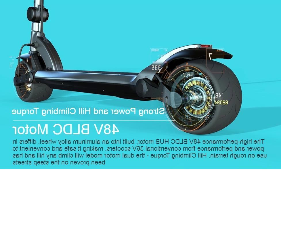 electric scooter widewheel dual motor 13 2ah