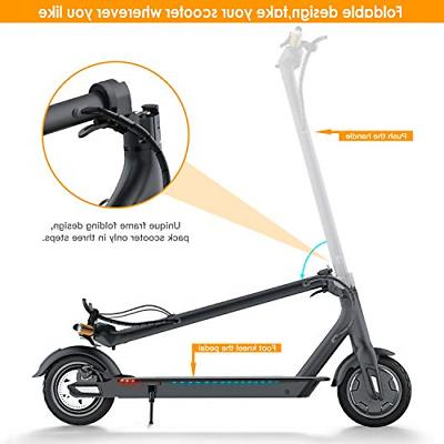 TOMOLOO Electric Scooter with Foldable Design, 18.6 Long-Range, Up to 15.5