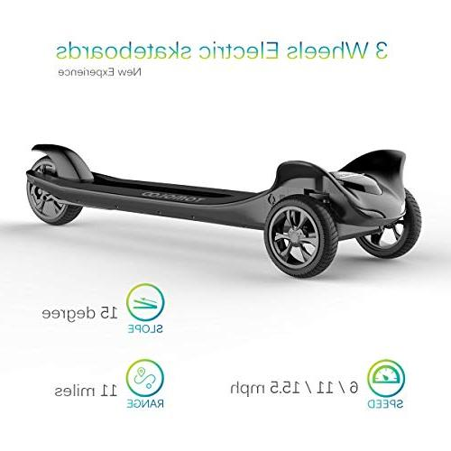 TOMOLOO Electric Skateboard Three Easy Carry Longboard Hub with APP and Wireless Remote Control - & to