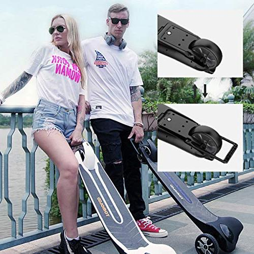 TOMOLOO Electric Easy Carry Longboard Hub Motor APP and - to 12mile