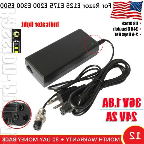 electric skip scooter battery charger for razor