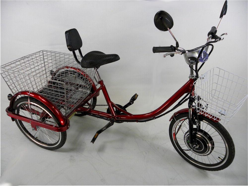 Red for adults, motorized trike, electric