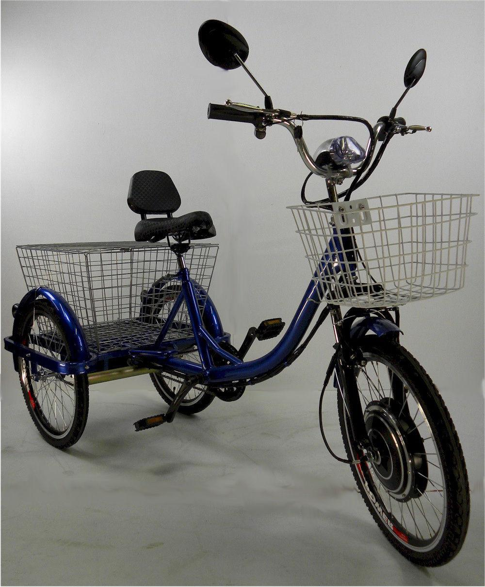motorized electric three wheels tricycle adult scooter