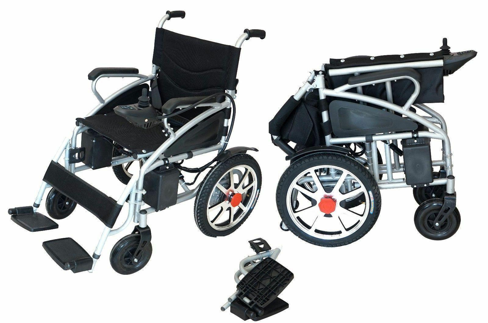 Electric Motorized Wheelchairs Folds Lightweight Duty