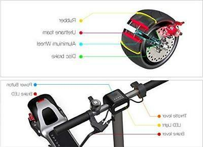 Electric Scooter WideWheel Dual Motor 1600W E-Scooter US