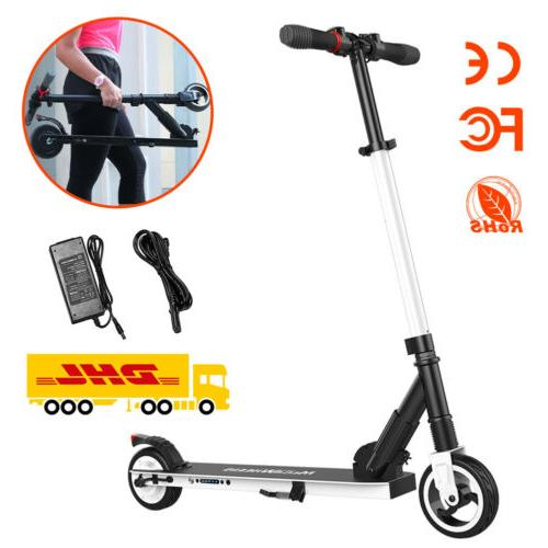 Black Folding Electric Scooter Adults Motor 250W Ultralight