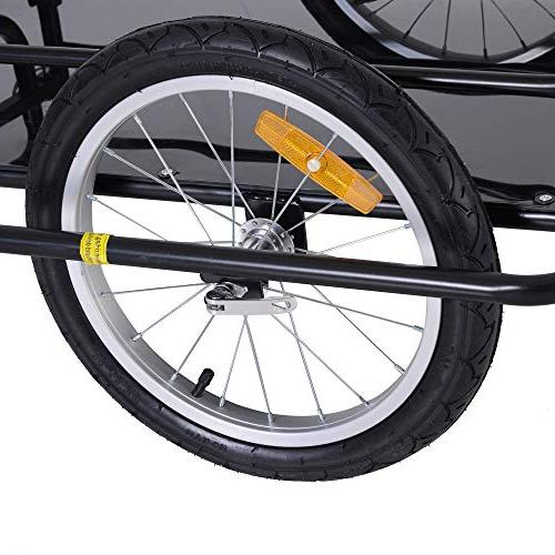Aosom Folding Bike Post Hitch- Black