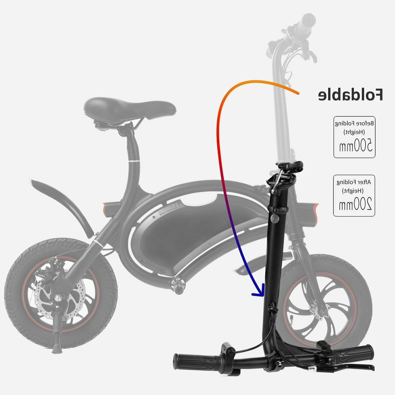 ANCHEER Folding Bicycle/E-Bike/Scooter 350W Ebike Mile Range,