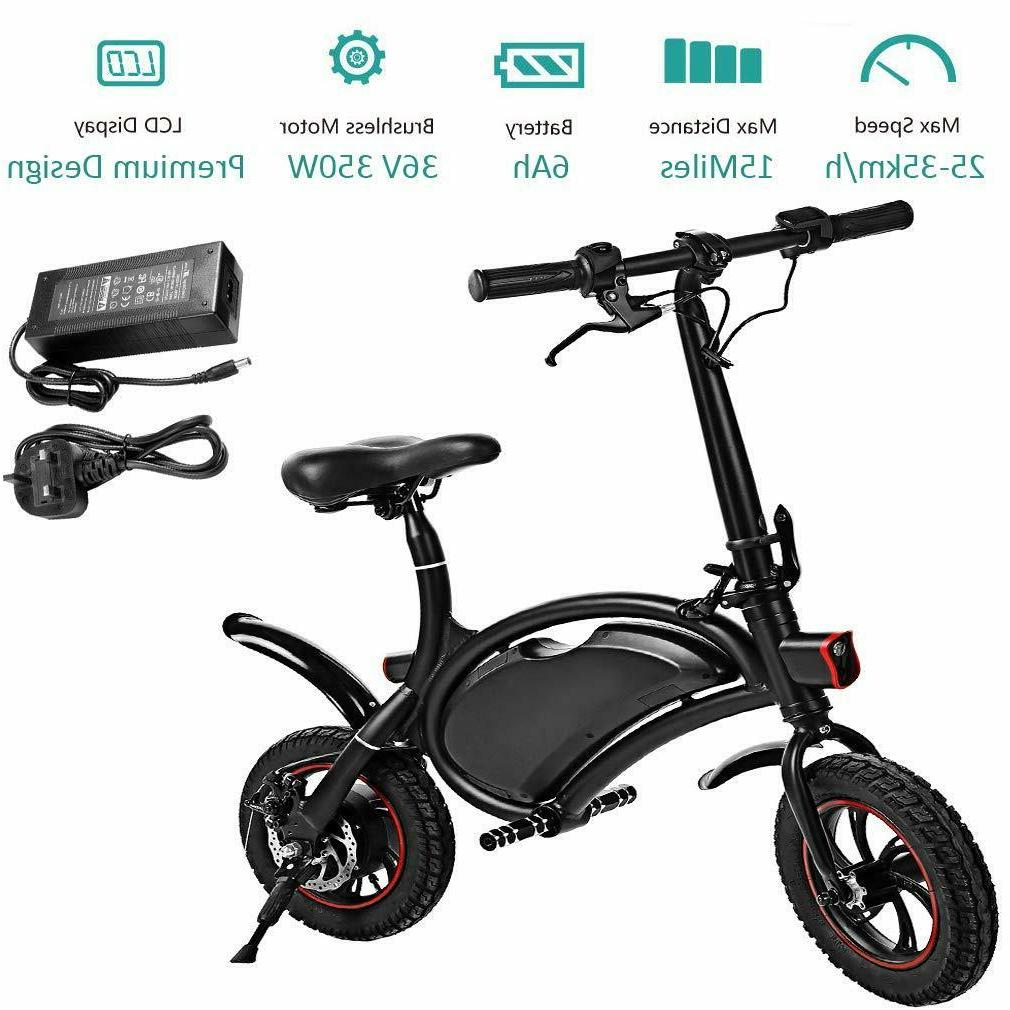 ANCHEER Folding Electric Bicycle/E-Bike/Scooter 350W Mile Range,
