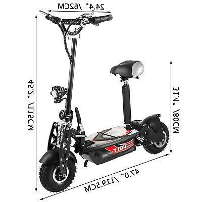Folding Scooter with Large 48v 1000w Motor Black