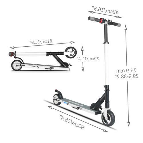 Megawheels Adult Electric Scooter Ultralight Motor 250W kick Skateboard