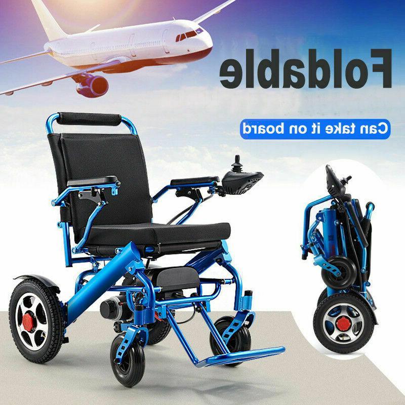 Folding Lightweight Electric Wheelchair Medical Mobility Motorized