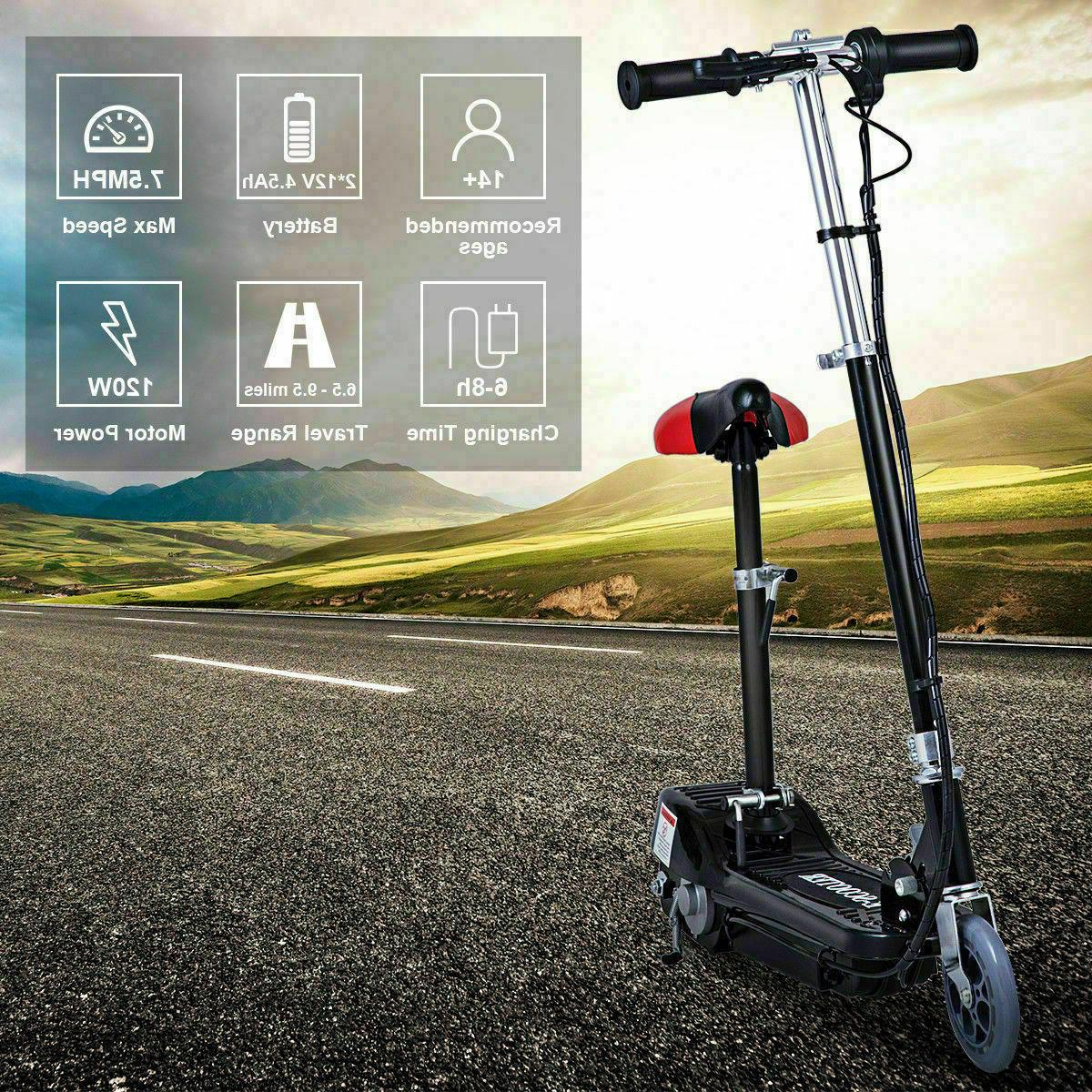 Folding Rechargeable Scooter w/Seat