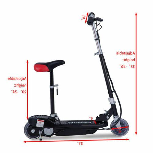 Folding Rechargeable Scooter On Outdoor For