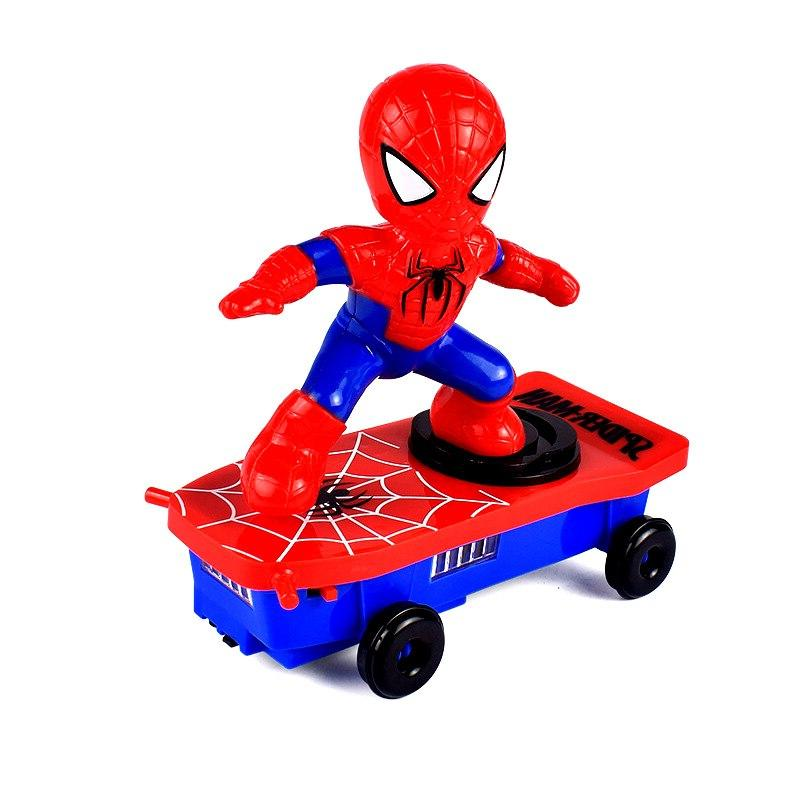 <font><b>Electric</b></font> Spider <font><b>Scooter</b></font> Universal Rotating Tumbling Light Walk Toys.