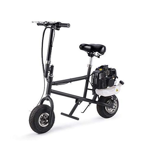 49cc 2-Stroke Petrol Mini Scooter, Super Folding Powered Kids Dirt Motocross