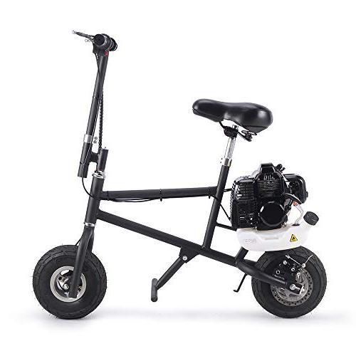 49cc 2-Stroke Mini Folding Bicycle, Gas Kids Mini Dirt Bike Motocross EPA