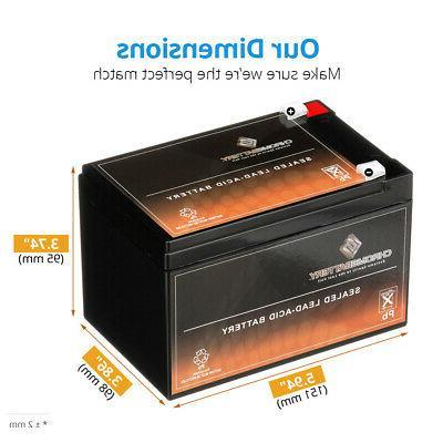 Chrome Purpose Battery mAh - Lead Acid 12 V DC