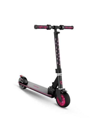 glow kids electric scooter with throttle led