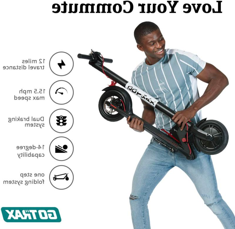 Gotrax GXL Electric - Air Filled Tires - 15.5MPH 9-1