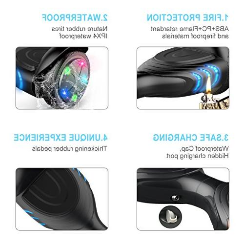 TOMOLOO Hoverboards Scooter Scooter - Black Hover Battery Protection