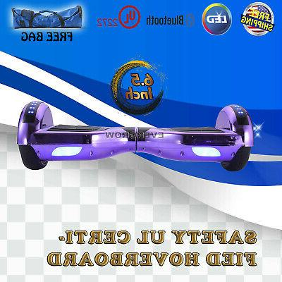 """Hoverboard UL Electric 6.5"""" Chrome"""