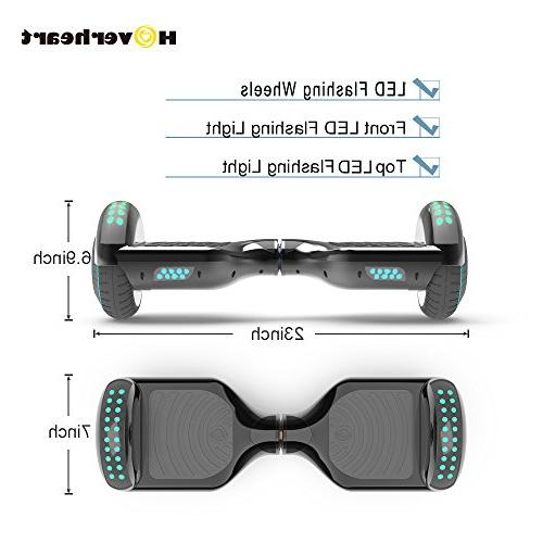 Hoverboard Lithium-Free Two-Wheel Balancing Scooter UL 2272 Certified, Metallic Chrome