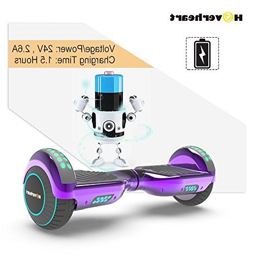 Hoverboard Two-Wheel Electric Scooter Certified, Metallic LED Light