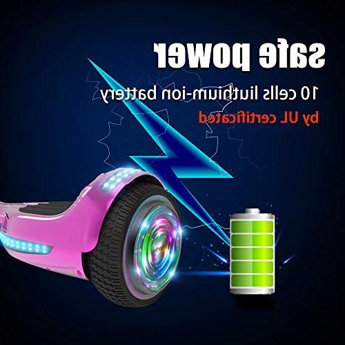 "Hoverboard Flash Wheel 6.5"" Speaker Self Balancing Scooter"