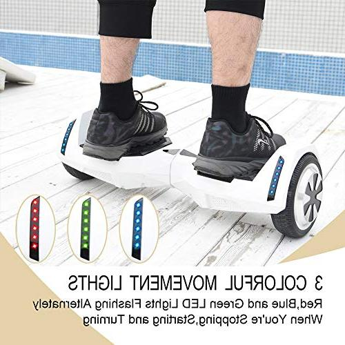 CXM Hoverboard 2272 Certified 6.5 inch Wheels Bluetooth Side Lights for and Adults,Smart Hover Board