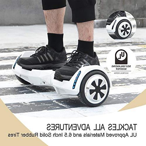 CXM Hoverboard Certified Wheels Electric Bluetooth Speaker and Side Lights Kids and