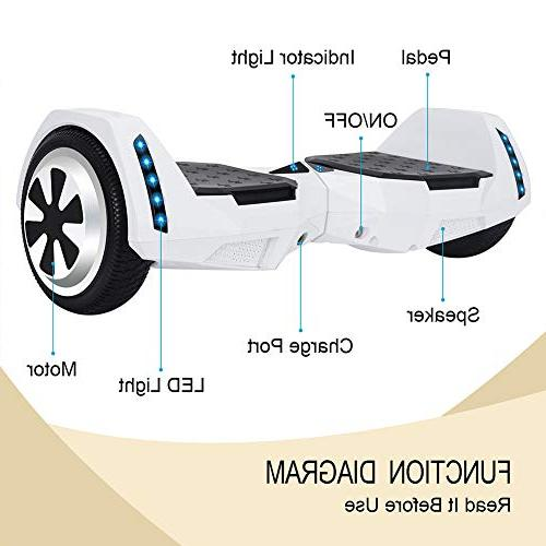 CXM UL 2272 Certified 6.5 Wheels Electric Scooter with Side for and Self Hover Board