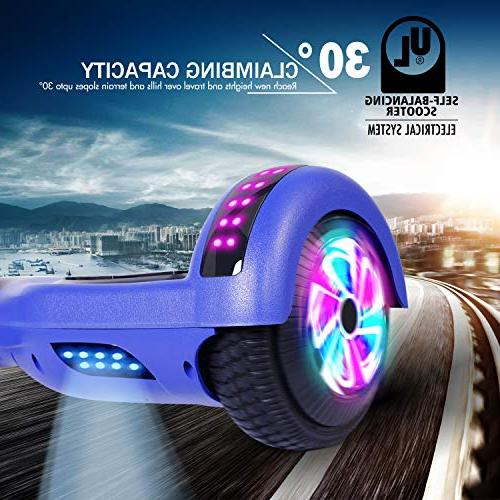 YHR UL 2272 Certified Scooter Colorful Side Light Smart Balancing Scooter