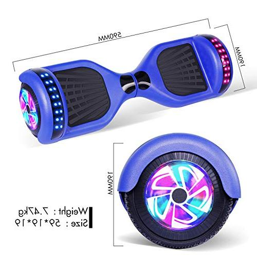 YHR UL 2272 Certified Wheel Electric Scooter Colorful Light Smart Scooter