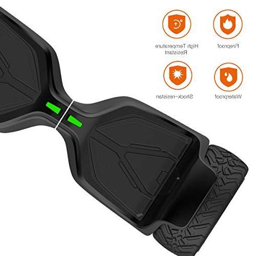 "TOMOLOO Hoverboard UL2272 8.5"" Wheels Off-Road App Self Balancing Kids and Bluetooth Speaker Light"