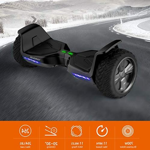"""8.5"""" Terrain Off-Road App Controlled Electric Self Scooter Kids Light"""