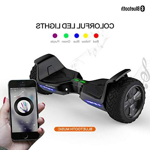 """TOMOLOO Hoverboard 8.5"""" Off-Road App Controlled Self for Kids Bluetooth and Light"""