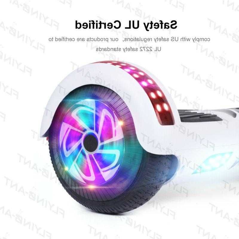 "Hoverheart UL2272 6.5"" Chrome Hoverboard Electric LED"