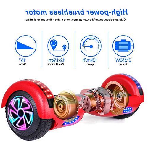 Felimoda inch Electric Scooter w/Built-in Speaker LED Side Lights- UL2272 Certified
