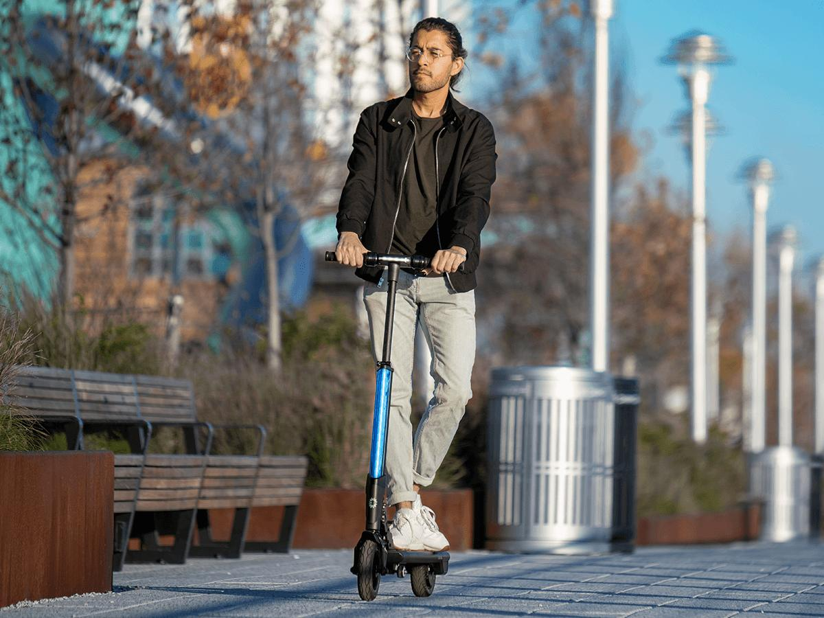 ion folding electric scooter with bright led