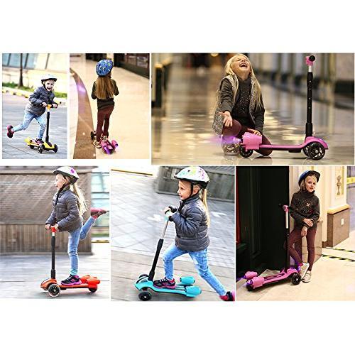MammyGol Scooters Kids,Adjustable Handle Spray Jet 3 Wheeled, Age